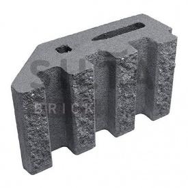 Блок декоративный Силта-Брик Цветной 0-2 канелюрный угловой 390х190х140 мм