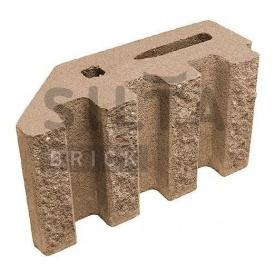 Блок декоративный Силта-Брик Элит 39 канелюрный угловой 390х190х140 мм