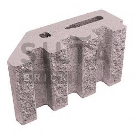 Блок декоративный Силта-Брик Элит 34-07 канелюрный угловой 390х190х140 мм