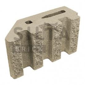 Блок декоративный Силта-Брик Элит 38 канелюрный угловой 390х190х140 мм