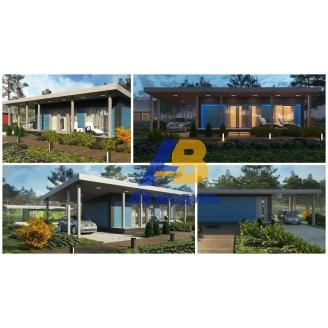Всесезонный модульный дом по технологии Prefab 45 м2