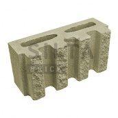 Блок декоративний Сілта-Брік Кольоровий 25 канелюрний 390х190х140 мм