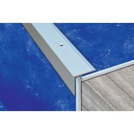 Порог алюминиевый анодированный угловой рифленый 30х30 мм 0,9 м