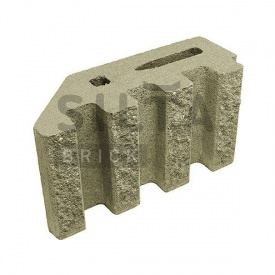 Блок декоративний Сілта-Брік Кольоровий 25 канелюрний кутовий 370х190х140 мм