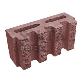 Блок декоративный Силта-Брик Цветной 24-2 канелюрный 390х190х140 мм