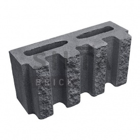 Блок декоративный Силта-Брик Цветной 0-21 канелюрный 390х190х140 мм