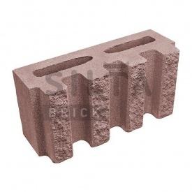 Блок декоративний Сілта-Брік Еліт 53 канелюрный 390х190х140 мм