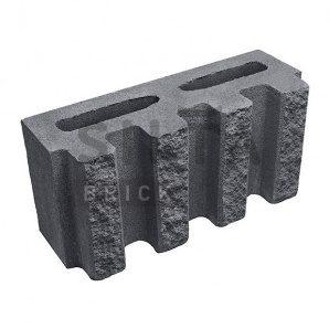 Блок декоративний Сілта-Брік Кольоровий 0-21 канелюрний 390х190х140 мм