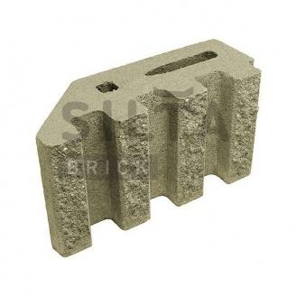 Блок декоративный канелюрный угловой Силта-Брик 370х190х140 мм цветной