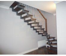 Изготовление металлокаркаса для открытой лестницы