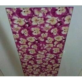 Декоративная пленка для натяжного потолка 0,17 мм с фотопечатью фиалка