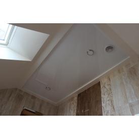 Натяжной потолок глянцевый 0,17 мм белый