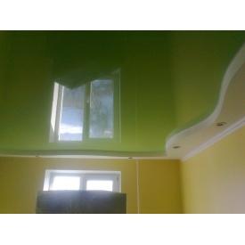 Натяжна стеля глянцева 0,17 мм салатова