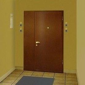 Тамбурная дверь металлическая 1,2 мм коричневая