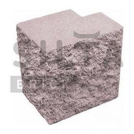 Напівблок декоративний Сілта-Брік Еліт 34-07 кутовий повнотілий 190х190х140 мм