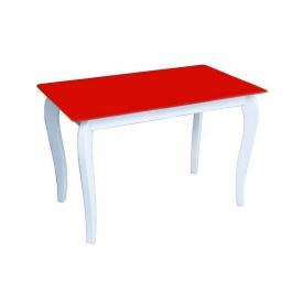 Стеклянный стол Император Белиссимо 1100х640х760 мм красный