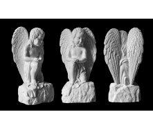 Скульптура Ангел на камне 850х450х300 мм