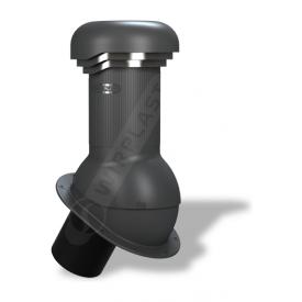 Вентиляционный выход Wirplast Wirovent Normal Pro W06 150x440 мм антрацитовый RAL 7021