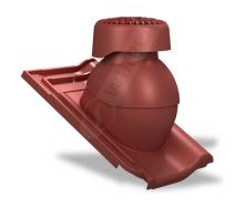 Фановый выход Wirplast Tile K85 110х265 мм красный RAL 3009