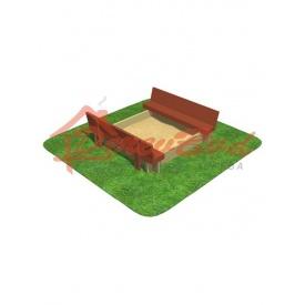 Дерев'яна дитяча пісочниця 04