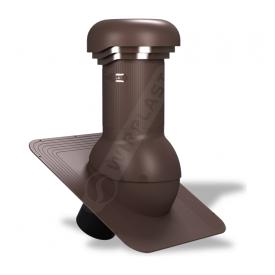Вентиляционный выход Wirplast Wirovent Standard Pro W01 125x440 мм коричневый RAL 8017