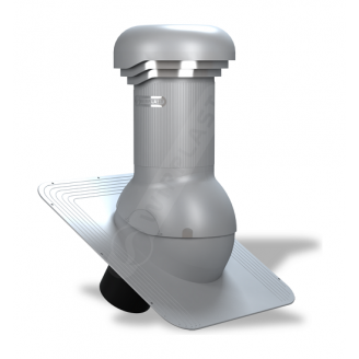 Вентиляционный выход Wirplast Wirovent Standard Pro W01 125x440 мм серый RAL 7046