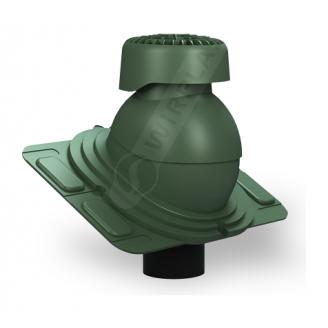 Фановий вихід Wirplast Uniwersal K86 110х265 мм зелений RAL 6020