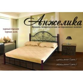 Металлическая кровать Анжелика Металл-Дизайн на деревянных ножках 1400х2000 мм