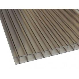 Поликарбонат сотовый Polygal 10 мм бронза