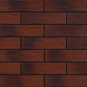 Фасадна плитка Cerrad структурна 245х65х6,5 мм burgund cieniowany
