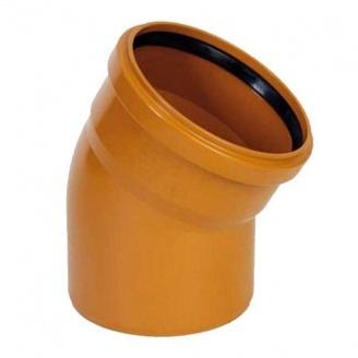 Отвод для наружных канализационных труб 110x45 мм