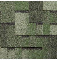 Бітумна черепиця NORDLAND Альпін 3х337х1000 мм зелений з відливом