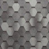 Битумная черепица NORDLAND Нордик 3х337х1000 мм серый с отливом