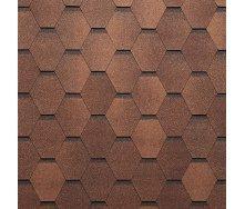 Битумная черепица NORDLAND Нордик 3х337х1000 мм коричневый с отливом