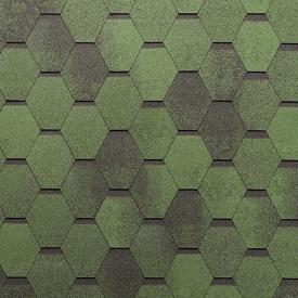 Бітумна черепиця NORDLAND Нордік 3х337х1000 мм зелений з відливом