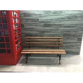 Скамейка кованая Ручная работа XXI Век без перил 1,75 м