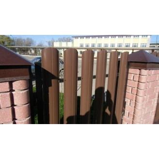 Штахетник двухсторонний металлический 11 см коричневый