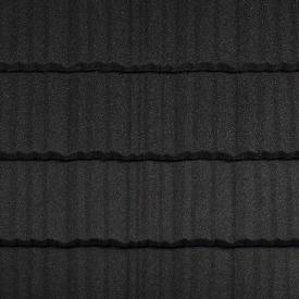 Композитная черепица Metrotile Shake 1325x415 мм Coal Black