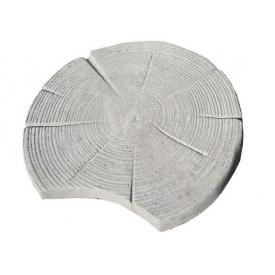 Плита на доріжку Зріз дерева 620*55 мм сіра