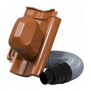 Черепиця Jacobi Doppelmulde D10 з насадкою для витяжної труби 287х456 мм червоний