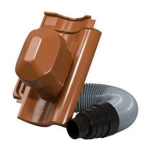 Черепиця Jacobi Standard-Grossfalzziegel Z10 з насадкою для витяжної труби 287х456 мм червоний
