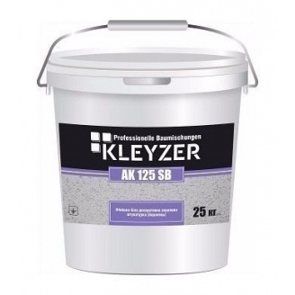 Декоративна штукатурка KLEYZER AK 125 SB акрилова короїд 25 кг білий