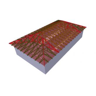 Ферма для вальмового даху з горищем