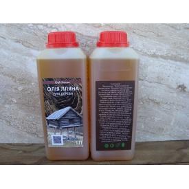 Масло льняное для обработки древесины 1л Oak House