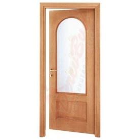 Двери из ольхи DerevBud с арочным стеклом 42х700х1900 мм