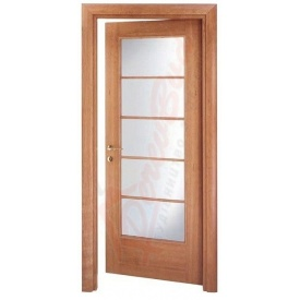 Двери из ольхи DerevBud со стеклом 42х700х1900 мм