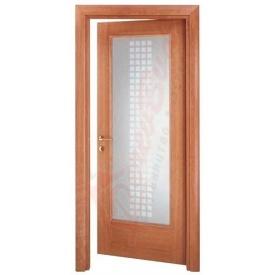 Двери из ольхи DerevBud с рефленным стеклом 42х700х1900 мм