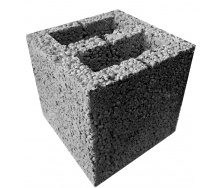 Блок стеновой керамзитобетонный 195х190х190 мм