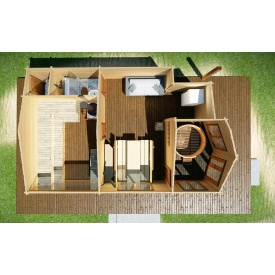 Будівництво дерев'яної збірної лазні