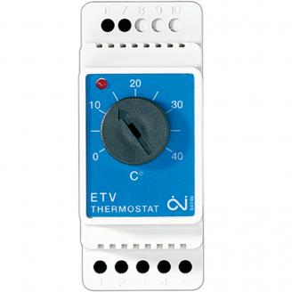 Терморегулятор на DIN-шину OJ ETV-1999 86х36х58 мм белый